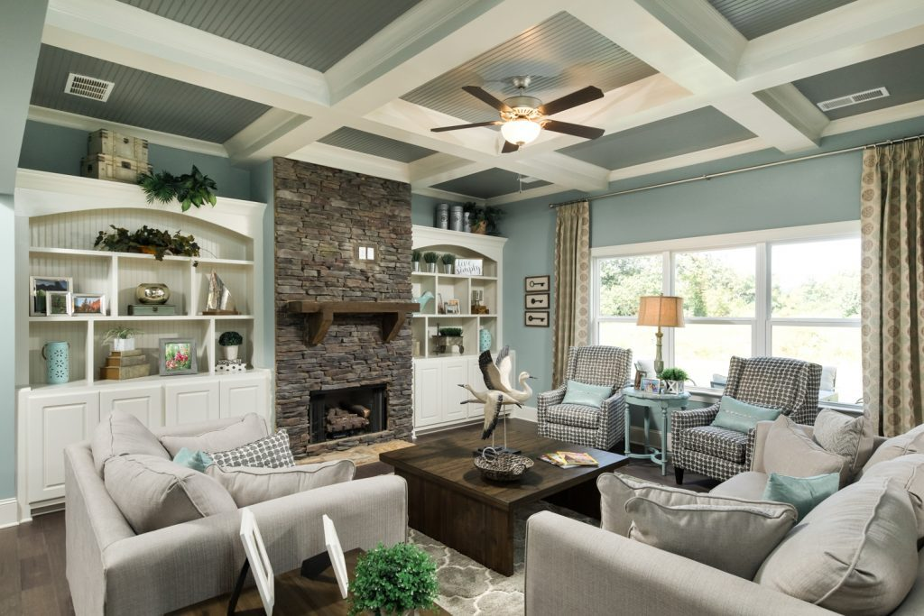 Gorgeous open living areas like those found in the new Ooltewah homes at Medow Stream